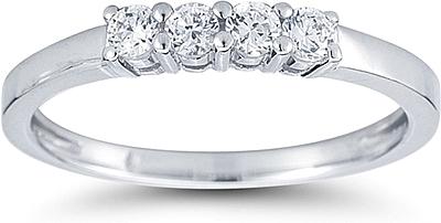 Four stone Prong Set Diamond Wedding Ring US3106B