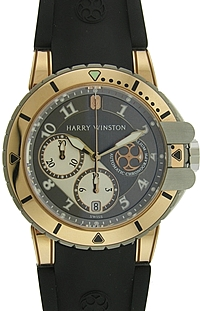 Harry Winston 18k Rose Gold and Zalium Ocean Diver Chronograph