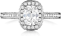 Heni Daussi Micro-Pave Diamond Engagement Ring