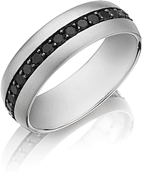 Henri Daussi  Diamond Wedding Band- 7mm