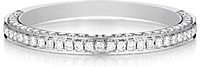 Henri Daussi 3 Row Pave Diamond Band