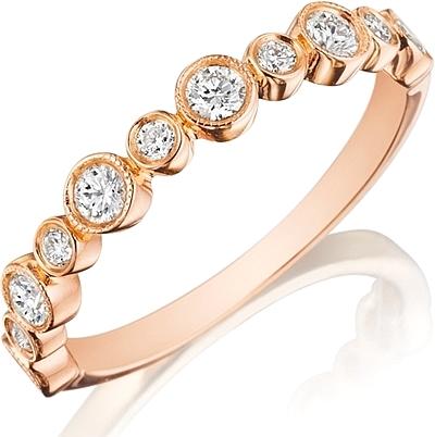 henri daussi bezel set diamond wedding band r28 7