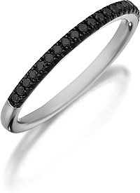 Henri Daussi Black Diamond Pave Band