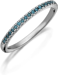 Henri Daussi Blue Diamond Pave Band