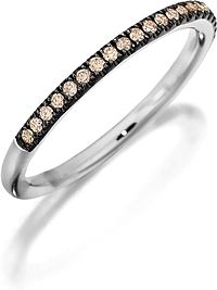 Henri Daussi Brown Diamond Pave Band