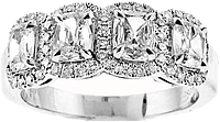 Henri Daussi Cushion Cut Diamond Band
