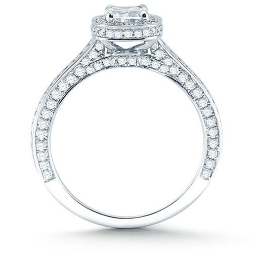 Cushion Cut Diamond Cushion Cut Diamond Halo Pave Settings