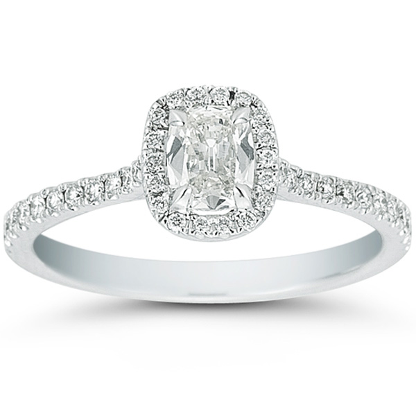 Cushion Cut Diamond Cushion Cut Diamond Halo Setting