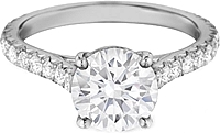 Henri Daussi Pave Diamond Engagement Ring