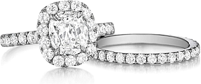 Shown with the Henri Duassi engagement ring #AMKL; Sold separately.