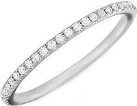 Henri Daussi Pave Set Diamond Wedding Band
