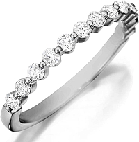 Henri Daussi Single Prong Diamond Band