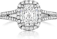 Henri Daussi Split Shank Diamond Engagement Ring