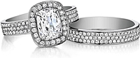 Henri Daussi Triple Row Pave Diamond Band