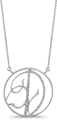 Jeff Cooper Adjustable Diamond 'D' Pendant
