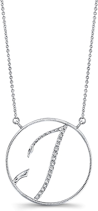 Jeff Cooper Adjustable Diamond 'I' Pendant