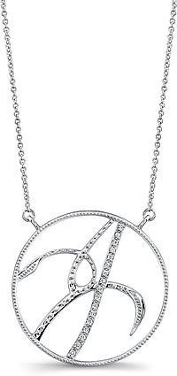 Jeff Cooper Adjustable Diamond 'J' Pendant