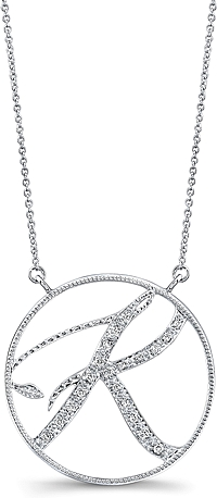 Jeff Cooper Adjustable Diamond 'K' Pendant