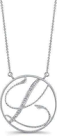 Jeff Cooper Adjustable Diamond 'L' Pendant