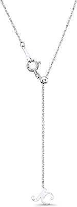"""This image shows the back of the chain which can be adjusted to the desired length of 14""""-18."""""""