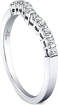 Jeff Cooper Barset Collection Round Diamond Wedding Band