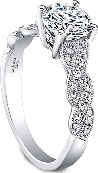 Jeff Cooper Braided Diamond Engagement Ring