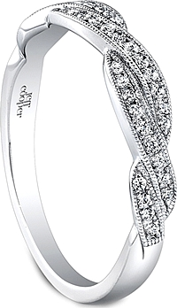 Jeff Cooper Braided Diamond Wedding Band
