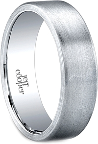 Jeff Cooper Brush Finish Men's Wedding Band-6mm