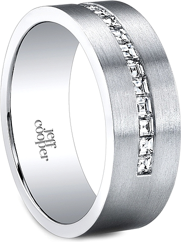 Jeff Cooper Channel Set Diamond Wedding Band 75mm R3290