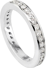 Jeff Cooper Channel Set Eternity Wedding Band