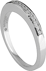 Jeff Cooper Channel Set Round Diamond Wedding Band