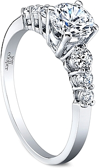 Jeff Cooper Common-Prong Diamond Engagement Ring