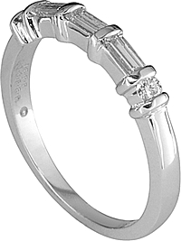 Jeff Cooper Diamond Bar Wedding Band