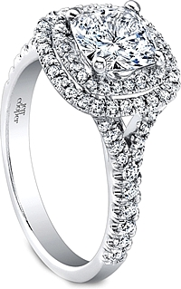Jeff Cooper Double Halo Diamond Engagement Ring