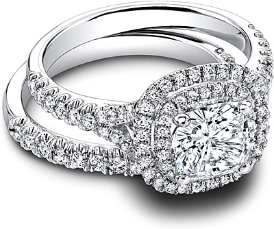 Jeff Cooper Double Halo Diamond Engagement Ring RP1610CU