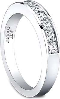 Jeff Cooper Engagement Classics Collection Channel Set Wedding Band