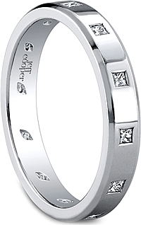 Jeff Cooper Eternal Collection Princess Cut Wedding Band