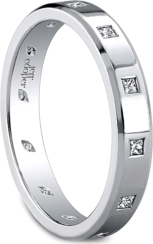 Jeff Cooper Eternal Collection Princess Cut Wedding Band 4016B