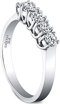 Jeff Cooper Lattice Three Stone Engagement Ring 3214