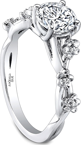 stones engagement elevates rings slim product isabel bond the a find distinctly page ring round whimsical of this and perfect has pave feel band floral daisy design diamond center captivating comprised deco