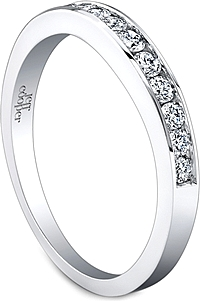 Jeff Cooper Graduated Round Cut Diamond Wedding Band