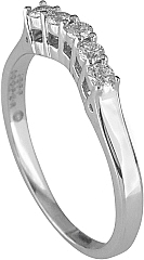 Jeff Cooper Heritage Collection Curved Diamond Wedding Band