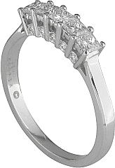Jeff Cooper Heritage Collection Princess Cut Diamond Wedding Band