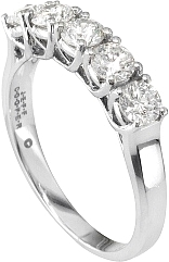 Jeff Cooper Lattice Collection Round Diamond Cut Wedding Band