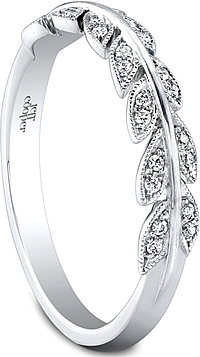 Jeff Cooper Leaf Motif Diamond Wedding Band