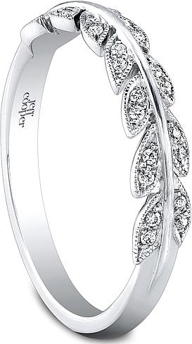 Jeff Cooper Leaf Motif Diamond Wedding Band RP1615B
