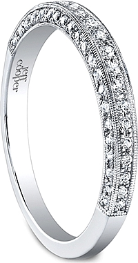 Jeff Cooper Milgrain Pave Diamond Wedding Band