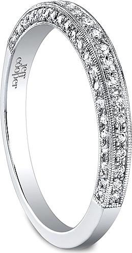 Jeff Cooper Milgrain Pave Diamond Wedding Band RP1601B