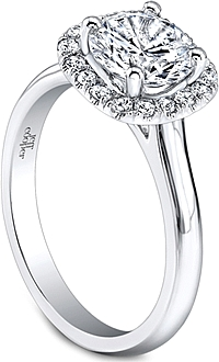 Jeff Cooper Pave Halo Diamond Engagement Ring