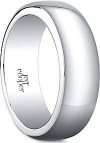 Jeff Cooper Plain Wedding Band-8mm